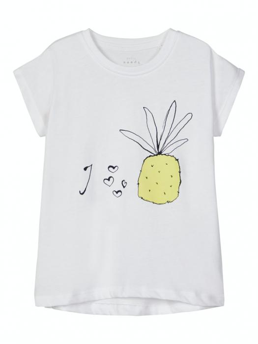 tricou-copii-bumbac-organic-fete-name-it-vigea-alb 0