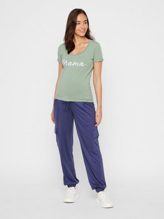 Tricou pentru gravide Lucca Green Bay 2