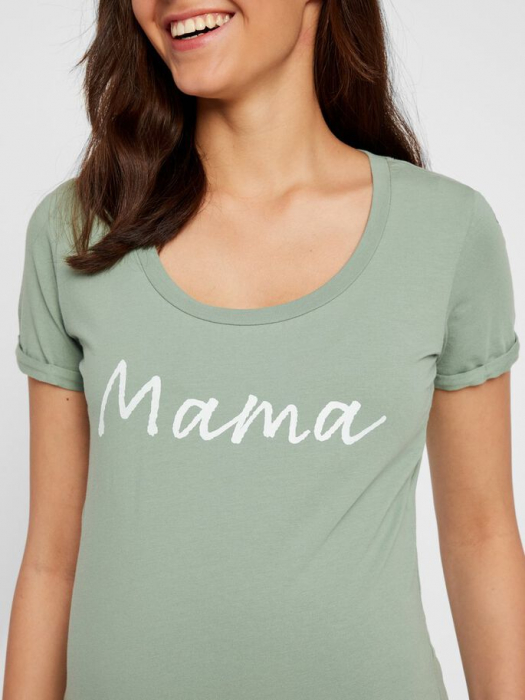 Tricou pentru gravide Lucca Green Bay 3