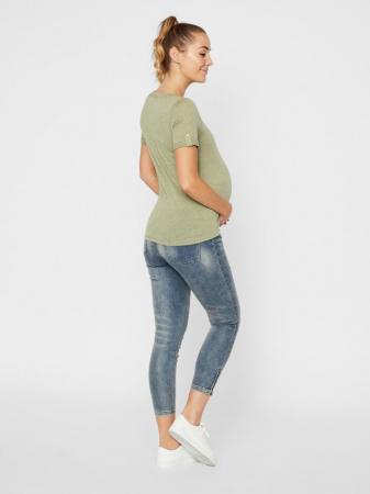 Blugi gravide cu insertii elastice Mamalicious Fally2