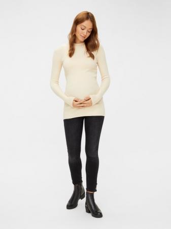 Blugi cropped pentru gravide Mamalicious Lotuz2