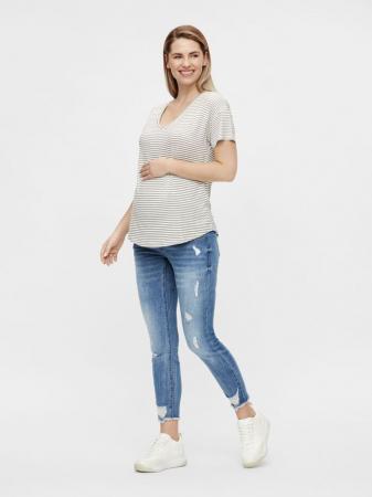 Blugi gravide, slim, aspect uzat - Mamalicious Taragona2