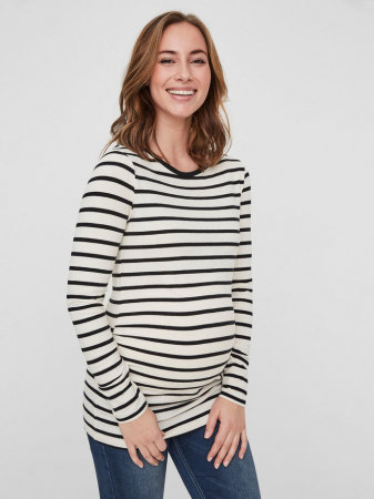 Bluză pentru gravide din bumbac organic ML Alabama0
