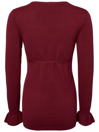 Bluză pentru gravide Mamalicious Zolanda Red Plum2