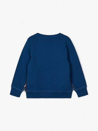 Bluza baieti, bumbac organic – Name It Lasso albastru marin1