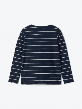 Bluza baieti, bumbac organic - Valentin navy1
