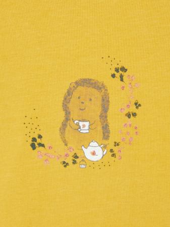 Bluza bebelusi, bumbac organic, fete - Karen mustard1