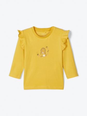 Bluza bebelusi, bumbac organic, fete - Karen mustard2