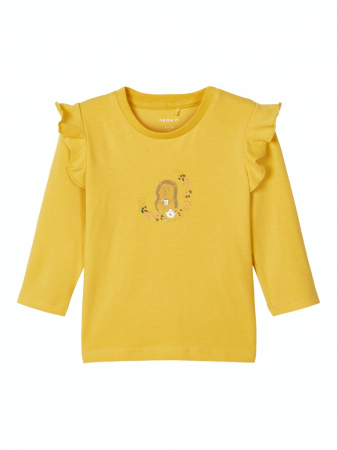 Bluza bebelusi, bumbac organic, fete - Karen mustard0
