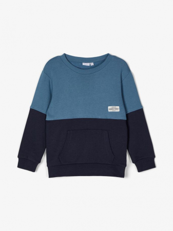 Bluza copii, bumbac organic, baieti - Name It Valdor Sapphire1
