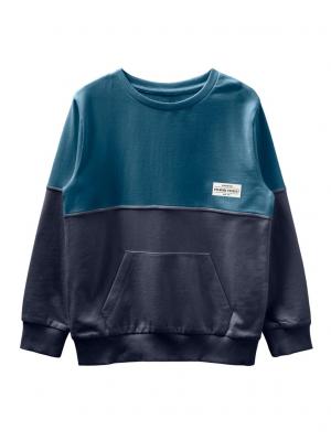 Bluza copii, bumbac organic, baieti - Name It Valdor Sapphire0