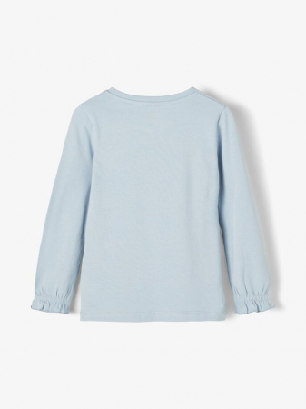 Bluza copii, bumbac organic, fete - Name It Tassi Blue1