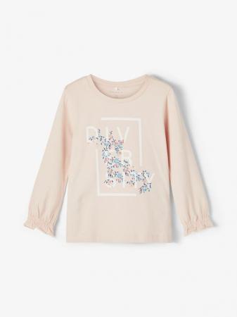 Bluza copii, bumbac organic, fete - Name It Tassi Pink0