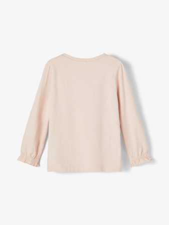 Bluza copii, bumbac organic, fete - Name It Tassi Pink1