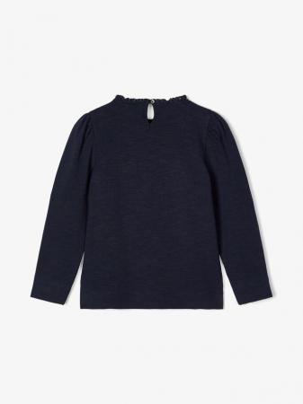Bluza copii, bumbac organic, fete - Name It Thura Sapphire1