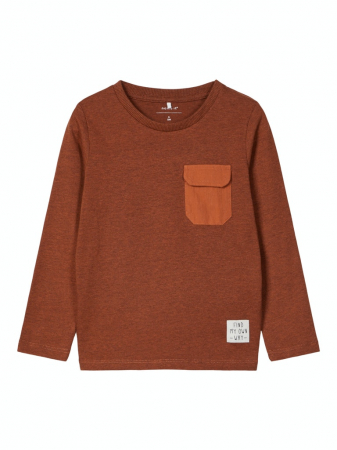 Bluza cu buzunar la piept, bumbac organic, baieti – Name It Monta0
