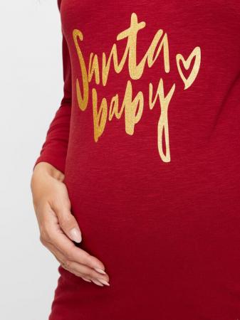 Bluza de Craciun pentru gravide, bumbac organic – Mamalicious Gloria3