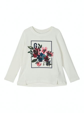 Bluza fete, bumbac organic – Name It Nanila alb0