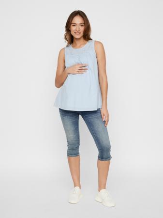 Bluza pentru gravide din bumbac organic Mamalicious Malina1