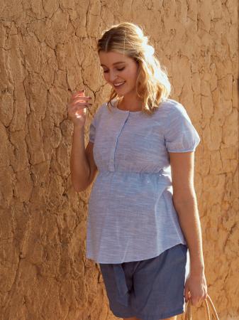 Bluza pentru gravide si alaptare din bumbac Mamalicious Ollie1