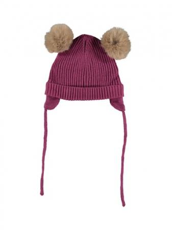 Caciula bebe, bumbac tricotat, fete - Name It Mara