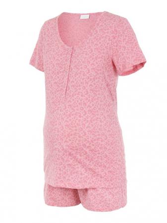Pijama gravide si alaptare din bumbac organic Mamalicious Leopard5
