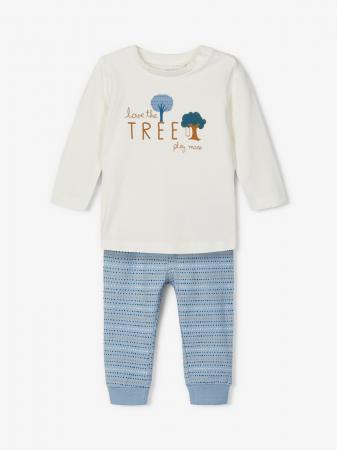 Compleu bebelusi, bluza si pantaloni, bumbac organic, baieti - Name It Leonardo5