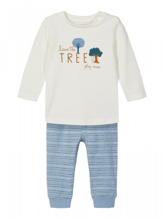Compleu bebelusi, bluza si pantaloni, bumbac organic, baieti - Name It Leonardo0