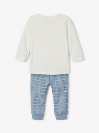 Compleu bebelusi, bluza si pantaloni, bumbac organic, baieti - Name It Leonardo4