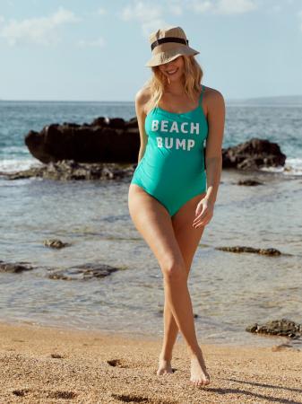 Costum baie gravide cu imprimeu Mamalicious Beach Bump1