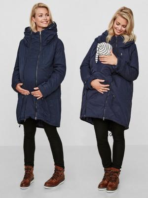 Geaca gravide si babywearing 3 in 1 Tikka Carry Me Blue Navy0