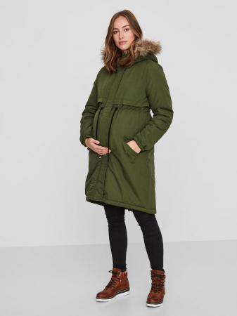 Geaca parka pentru gravide Mamalicious New Jessie verde0