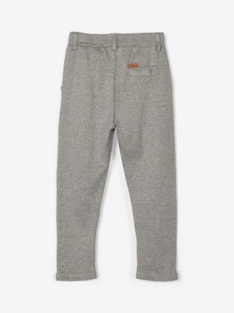 Pantaloni baieti, bumbac organic - Name It Rasse Grey1
