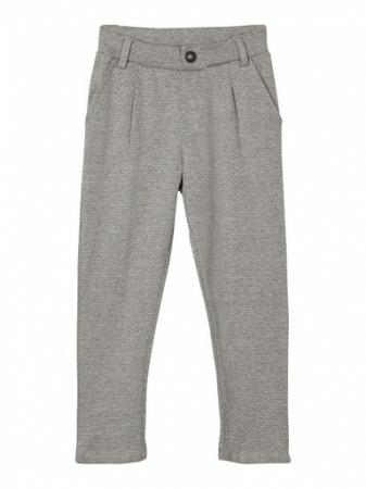 Pantaloni baieti, bumbac organic - Name It Rasse Grey0