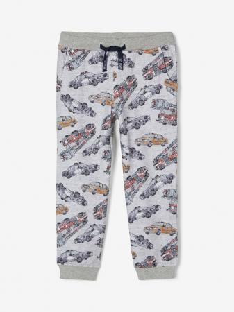 Pantaloni baieti, bumbac organic – Name It Robert Grey0