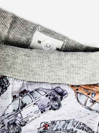 Pantaloni baieti, bumbac organic – Name It Robert Grey3