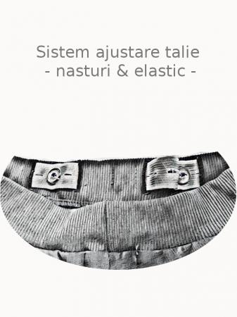 Pantaloni bebelusi, bumbac organic, fete – Name It Tanja Oatmeal4