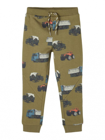 Pantaloni copii, bumbac organic, baieti - Name It Borge Ivy5