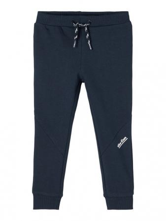 Pantaloni copii, bumbac organic, baieti - Name It Borge Navy4