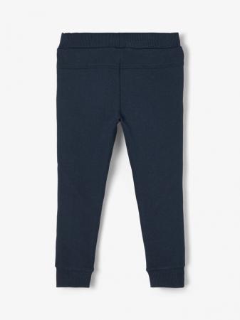 Pantaloni copii, bumbac organic, baieti - Name It Borge Navy1