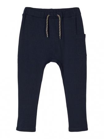 Pantaloni copii, bumbac organic, baieti – Name It Thors Sapphire0