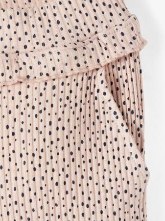 Pantaloni copii, bumbac organic, fete - Name It Thurid Rose1