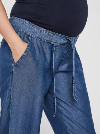 Pantaloni gravide din chambray Mamalicious Lydia3
