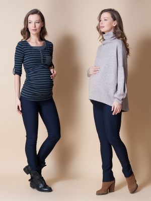 Pantaloni pentru gravide Mamalicious Alba0