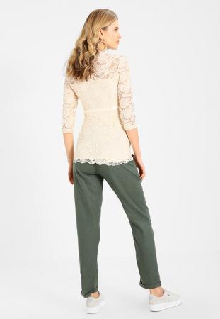 Pantaloni pentru gravide Mamalicious Beach din in - verde8