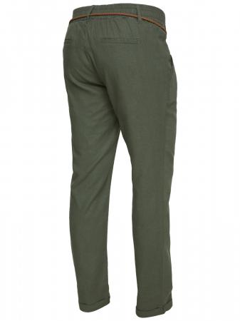 Pantaloni pentru gravide Mamalicious Beach din in - verde5
