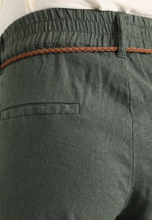 Pantaloni pentru gravide Mamalicious Beach din in - verde3