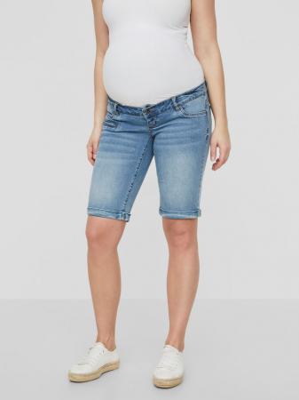 Pantaloni scurți de blugi pentru gravide Mamalicious Friday2