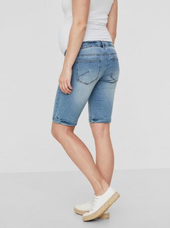 Pantaloni scurți de blugi pentru gravide Mamalicious Friday1