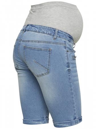 Pantaloni scurți de blugi pentru gravide Mamalicious Friday4